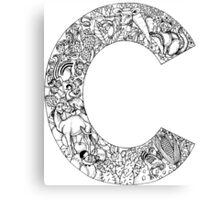 Animal Alphabet Letter C Canvas Print