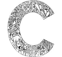 Animal Alphabet Letter C Photographic Print