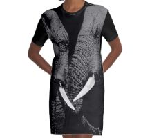 Elephant Day Graphic T-Shirt Dress