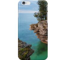Rocky Cliffs at Cave Point iPhone Case/Skin