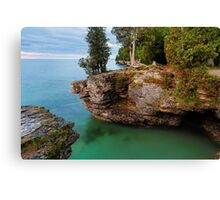 Rocky Cliffs at Cave Point Canvas Print