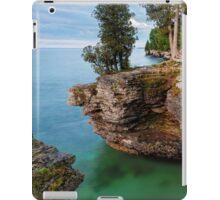 Rocky Cliffs at Cave Point iPad Case/Skin