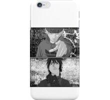 Naruto/Sasuke Roadman (UK Street clothing) B/W iPhone Case/Skin