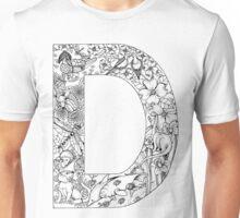 Animal Alphabet Letter D Unisex T-Shirt