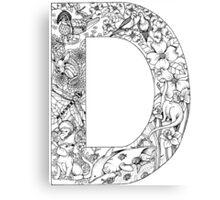 Animal Alphabet Letter D Canvas Print
