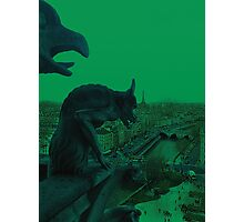 Gargoyle Over Paris Photographic Print