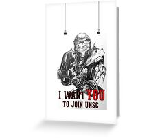 Master Chief - I WANT YOU! Poster Parody Greeting Card
