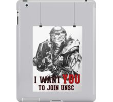 Master Chief - I WANT YOU! Poster Parody iPad Case/Skin