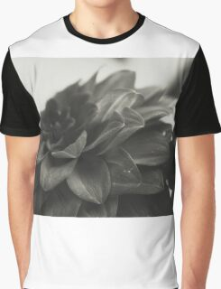 Black and White Flower 1 Graphic T-Shirt