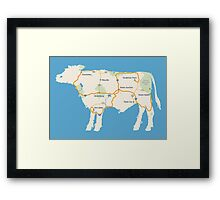Meat Map Framed Print