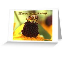 Love does not envy Greeting Card