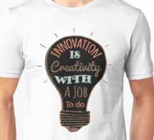 Innovation is creative with a job to do (black) Unisex T-Shirt