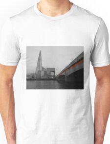 Orange Stripe; London Bridge & The Shard Unisex T-Shirt