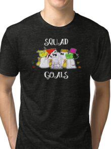 Squad Goals in White Tri-blend T-Shirt