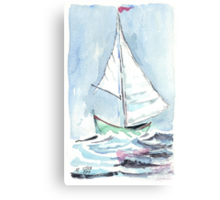 Sail away from the safe harbour Canvas Print