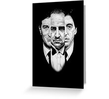 Trilogy - Godfather Greeting Card