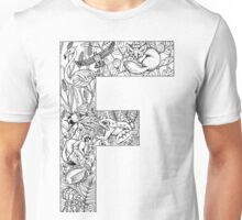 Animal Alphabet Letter F Unisex T-Shirt