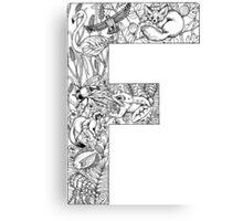 Animal Alphabet Letter F Canvas Print
