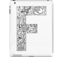 Animal Alphabet Letter F iPad Case/Skin