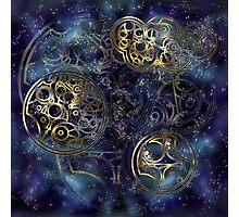 Spacey Tardis Circular Gallifreyan design  Photographic Print