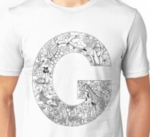 Animal Alphabet Letter G Unisex T-Shirt