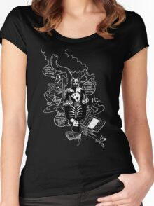 Donnie Darko (Black Background) Women's Fitted Scoop T-Shirt