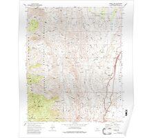 USGS TOPO Map Arizona AZ Bumble Bee 310648 1969 24000 Poster