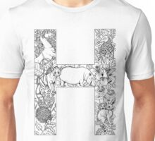 Animal Alphabet Letter H Unisex T-Shirt