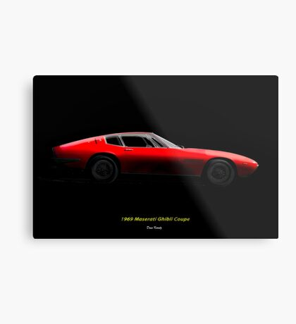 1969 Ghibli Sports Coupe Metal Print
