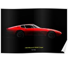 1969 Ghibli Sports Coupe Poster