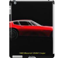 1969 Ghibli Sports Coupe iPad Case/Skin