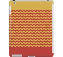 Chevron Duotone Spicy Mustard vs Aurora Red Fall 2016 iPad Case/Skin