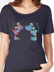 Love Is  Here  colorful watercolor Women's Relaxed Fit T-Shirt