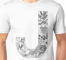 Animal Alphabet Letter J Unisex T-Shirt