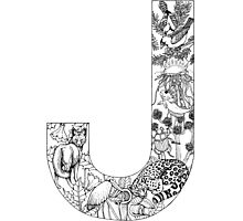 Animal Alphabet Letter J Photographic Print