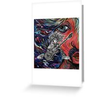 Hair Guitar Greeting Card
