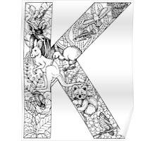 Animal Alphabet Letter K  Poster