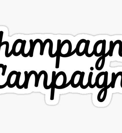 champagne campain  Sticker