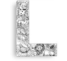 Animal Alphabet Letter L Canvas Print
