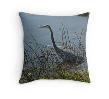 Great Blue Heron at Viera Wetlands Throw Pillow