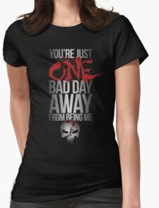 Daredevil Punisher One Bad Day Womens Fitted T-Shirt