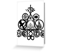 All of your book fandoms Greeting Card