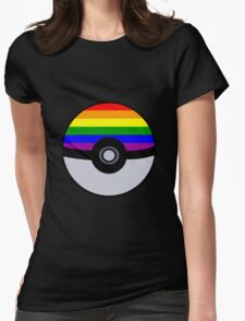Gay Poké Ball - Black Version Womens Fitted T-Shirt