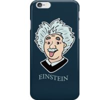 Albert Einstein funny illustration with tongue out iPhone Case/Skin
