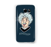 Albert Einstein funny illustration with tongue out Samsung Galaxy Case/Skin