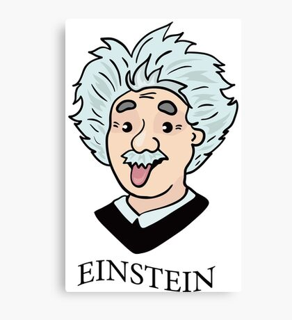 Albert Einstein funny illustration with tongue out Canvas Print