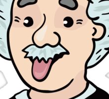 Albert Einstein funny illustration with tongue out Sticker