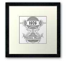 Original Brand Framed Print