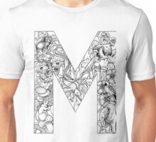 Animal Alphabet Letter M Unisex T-Shirt