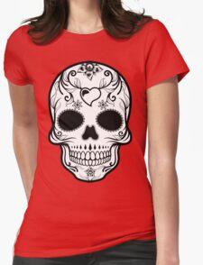 Skull Black  Womens Fitted T-Shirt
